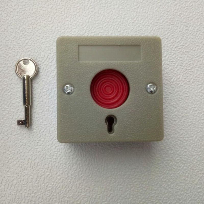 Small Emergency Panic Button With Manual Key Reset Alarm